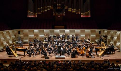 With the Doelen Ensemble and the orchestra of Liszt Ferenc Academy of Music, in Rotterdam, February 2018