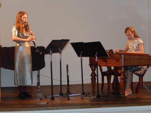 With Auður Edda Erlendsdóttir, Chamber concert in Štramberk, May 2017