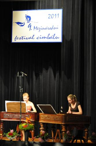 With Erika Biskupová at The International Cimbalom Festival in Valašské Meziříčí - winners of the chamber cimbalom category, 2011