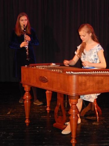With Auður Edda Erlendsdóttir, Chamber concert in Opava, May 2017