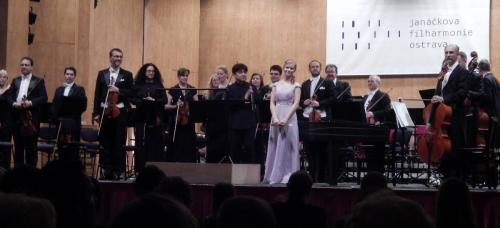 With Janáček Philharmonic, in Ostrava, May 2016