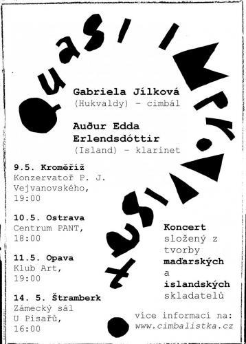 Poster for concert tour with Auður Edda Erlendsdóttir, May 2017